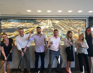 Cresa prepares to compete against other commercial real estate teams during Goodmans Chair Hockey on Oct. 20 which will benefit First Place AZ, a local nonprofit serving adults with autism.